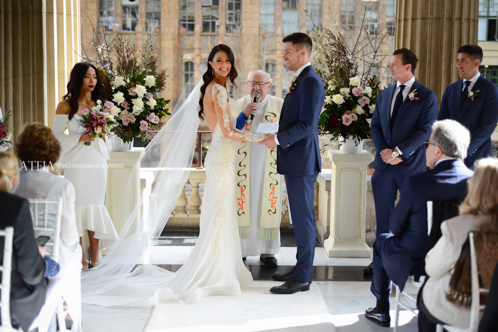 , Bachelor's Emily Simms ties the knot with Pierre Ghougassian at The George Ballroom, captu